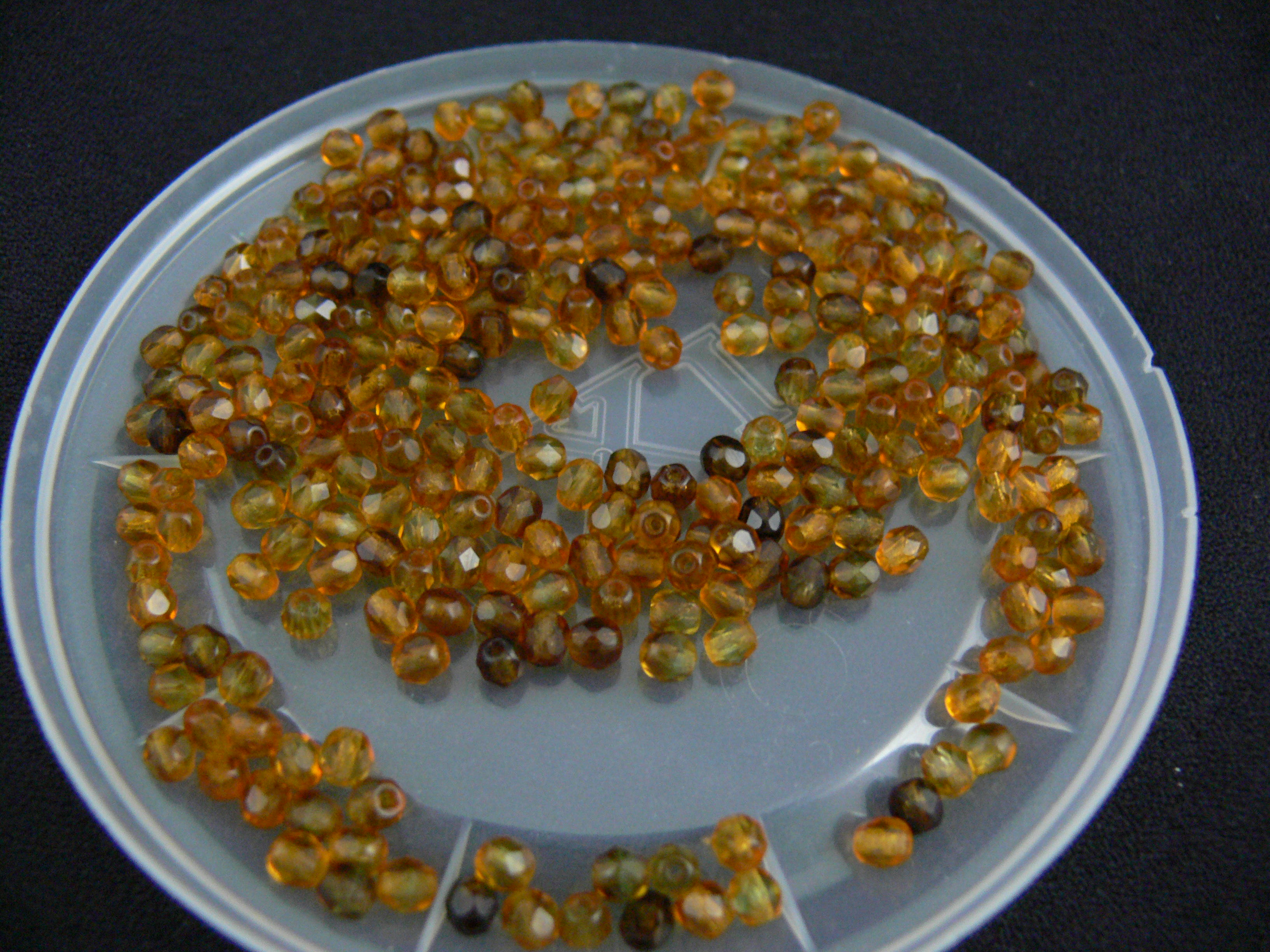 4mm Brown Mix Crystals