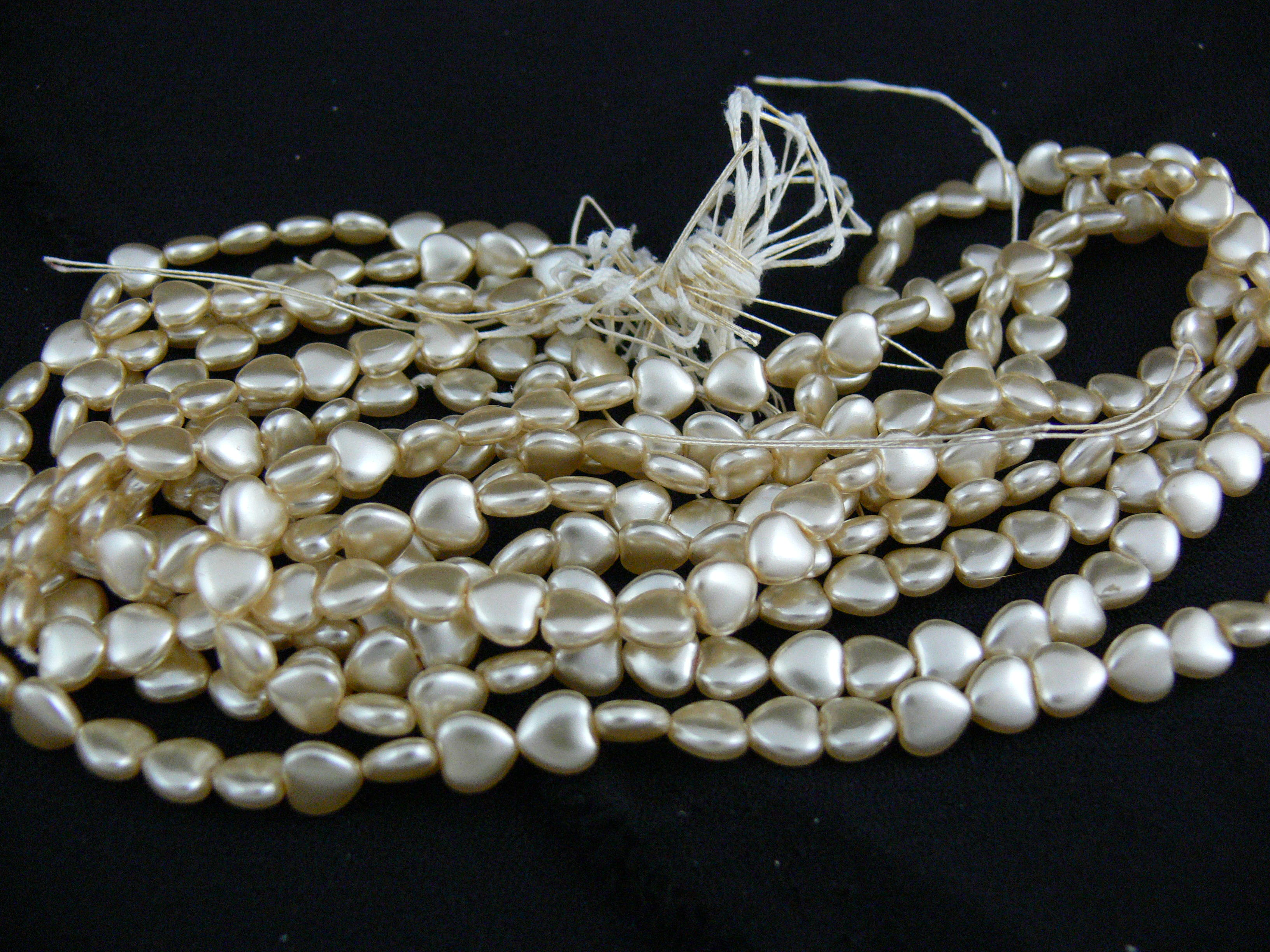 Heart shaped Ivory Pearls